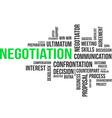 word cloud negotiation vector image vector image
