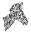 zentangle style Zebra Head vector image