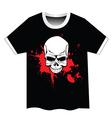Skull t shirt design vector image
