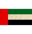 United Arab Emirates paper flag vector image