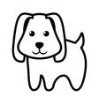 dog little pet domestic outline vector image