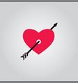 love arrow valentine vector image