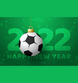 2022 happy new year sports greeting card vector image