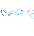 abstract blue circles on white vector image vector image