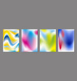 abstract color flow background vector image