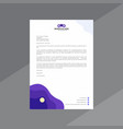 abstract purple and white letterhead vector image