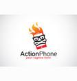 action phone logo template design