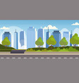 asphalt highway road over city panorama high vector image vector image