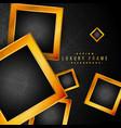 beautiful golden frames on black floral background vector image vector image