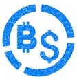 Bitcoin Financial Diagram Grainy Texture Icon vector image vector image