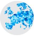 blue mosaic europe on white globe vector image