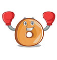 boxing bagels character cartoon style vector image vector image