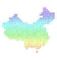 bright china map vector image vector image