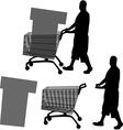buyer silhouette vector image vector image