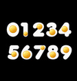 cartoon font eggs funny numbers for school vector image