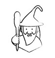 cartoon wizard icon vector image