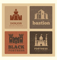 castles fortress bastion label design vector image vector image