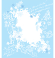 Christmas and New Year blue background vector image
