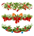 Christmas Berry Branches Decoration Set vector image vector image