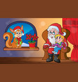 christmas indoor theme 5 vector image vector image
