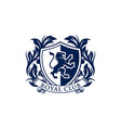 coat arms heraldic luxury logo design concept vector image vector image