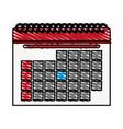color crayon stripe cartoon calendar with vector image vector image