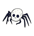 comic cartoon spooky halloween skull spider vector image vector image