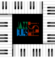 creative piano keyboard vector image