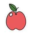 delicious apple cartoon vector image vector image
