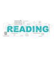design concept word reading website banner vector image vector image