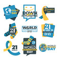 down syndrome day isolated icon slow development vector image vector image