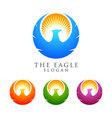 eagle logo emplate falcon hawk logo desig vector image