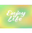 enjoy life for logotype banner invitation vector image