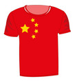 flag of the country china on t-shirt vector image