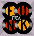 funk music lettering type design image vector image vector image