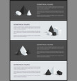 geometrical figures poster set vector image vector image
