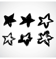 Grunge black star vector image