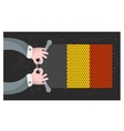 Hand made flag of Belgium vector image