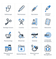 Health Care Icons Set 1 - Equipment and Supplies vector image vector image