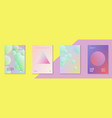 holographic cover set fluid for business vector image vector image