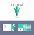 Icon Logo design element with business card vector image