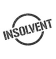 insolvent stamp vector image
