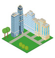 isometric office buildings vector image