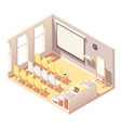isometric office presentation room interior vector image vector image