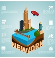 Isometry city New York vector image
