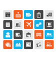 logistics delivery transportation and cargo icon vector image vector image