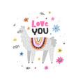 love lama vector image vector image