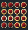 Luxury golden design elements collection 8 vector image