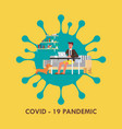 man working from home coronavirus concept vector image