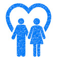 marriage grunge icon vector image